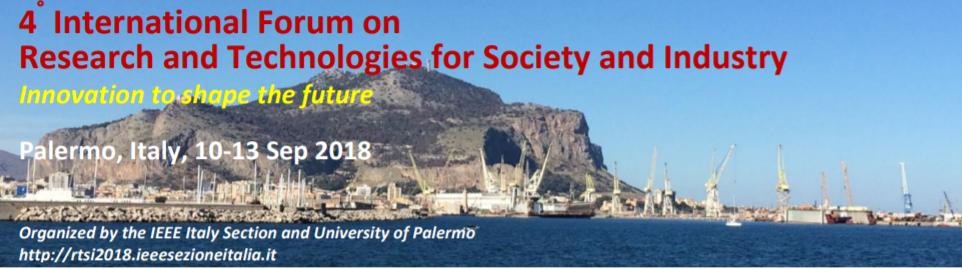 Invited talk at RTSI 2018